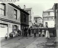 Children on the street in Cumberland Place at The Rocks in inner-city Sydney pictured in 1901 when the area was populated by shopkeepers, labourers, tradesmen and waterside workers; it is now at the heart of a bustling urban tourism district The Rocks Sydney, Kent St, Historical Images, Picture Show, Old Photos, Colonial, Photo Art, Past, Tourism