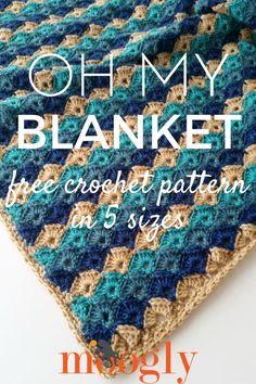 Oh My Blanket - free crochet pattern on Mooglyblog.com, #haken, gratis patroon (Engels), deken, sprei, kraamcadeau, #haakpatroon
