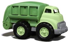 """green"" toys. Safe and recycled materials to make Eco friendly toys in the USA! P has this one, the dump truck and the fire truck and he LOVES them!!!    : )"