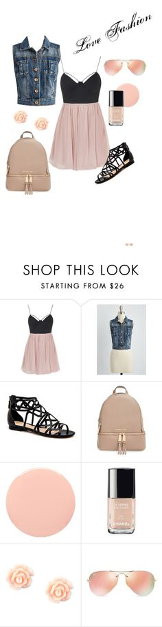 """""""Untitled #5"""" by eve-rosso ❤ liked on Polyvore featuring Topshop, MICHAEL Michael Kors, Smith & Cult, Chanel and Ray-Ban"""