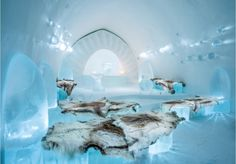 If you are interested in spending the night in an ice hotel, Sweden now is home to a year round resort. Click to explore the inside the hotel and channel your inner 'Frozen' experience.