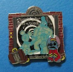 Disney E-Ticket Attractions - Stitch Bellhop - Tower of Terror 3D LE Pin