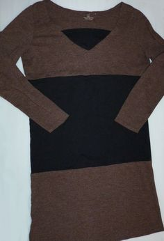 DIY color block tunic/dress made from 2 t-shirts.....This looks like it would be very comfortable.
