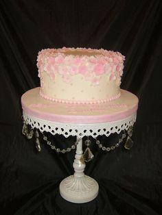 "Single tier 'Floral Elegance"" for a milestone 50th Birthday celebration"