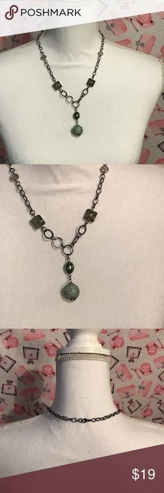 """Beautiful green necklace One of a Kind By MJ   20"""" 20"""" green One of a Kind by MJ necklace. Handcrafted.     (M124) One of a Kind by MJ Jewelry Necklaces"""