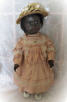 Black Figure A Steiner Bebe Circa 1890 from dollsandlace on Ruby Lane