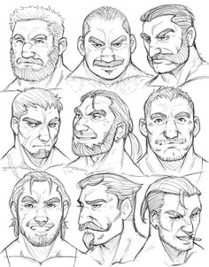 Giving you head! Playing around with faces, also noticed my style changes a bit. Character Design Animation, Character Design References, Fantasy Character Design, Character Drawing, Character Design Inspiration, Anime Drawings Sketches, Cartoon Drawings, Drawing Expressions, Arte Sketchbook
