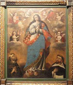 Autor: Escuela cuzqueña. Título: Inmaculada con san Franci… | Flickr