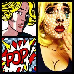 POP ART!! #halloween#popart#costume#comic