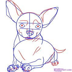 how to draw a chihuahua step 4