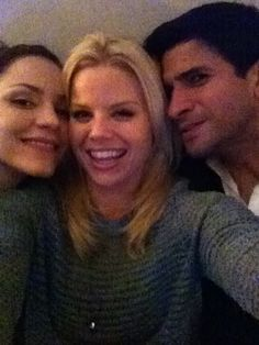 Megan Hilty, Katharine McPhee, and Raza Jaffrey have their own #Smash viewing party!
