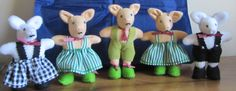 Perfect for Easter - Toy Piglets Pink or White Fleece or Felt by COLDHAMCUDDLIES, £15.00 ALSO - if you have an old stuffed animal in need of repair - please visit the CLINIC or contact Isobel in her ColdhamCuddlies Etsy shop via this link: http://www.etsy.com/listing/79124185/stuffed-animals-restoration-clinic-bears?ref=shop_home_active_1