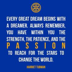 Passion to change to World #Rotary