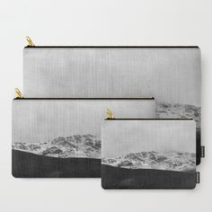 Fog & Snow  Carry-All Pouch by ARTbyJWP on society6