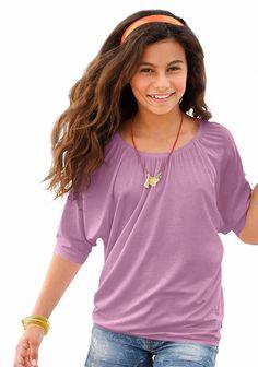 Produkttyp , ¾ Arm Shirt, |Qualitätshinweise , Hautfreundlich Schadstoffgeprüft, |Materialzusammensetzung , Obermaterial: 95% Viskose, 5% Elasthan, |Material , Jersey, |Farbe , Rosa, |Passform , Weite Form, |Schnittform/Länge , hüftlang, |Ausschnitt , Gummizug, |Ärmelstil , Fledermausärmel, |Armabschluss , Kante abgesteppt, |Saumabschluss , Gummizug, |Optik , uni, |Pflegehinweise , Maschinenwäs...