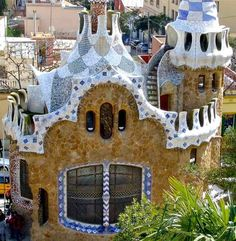 Antonio Gaudi's House, Park Guell in Barcelona, Spain. One of my favorite places!