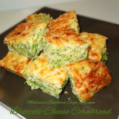 Broccoli Cheese Cornbread Casserole is a broccoli cheese casserole like you never had before. A garlic-herb cheese adds flavor to this moist dish, and the cornbread adds texture. You won want to miss out on this fun twist of a dish. Cornbread Casserole, Broccoli Cornbread, Casserole Recipes, Cornbread Mix, Broccoli Casserole, Broccoli And Cheese, Steamed Broccoli, Southern Recipes, Southern Food