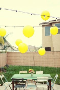 #celebratecolorfully yellow balloons