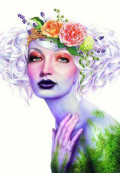 Lápiz coloreado ilustraciones de Morgan Davidson