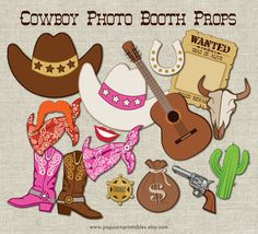 Fun Cowboy / Cowgirl photo booth props printable!