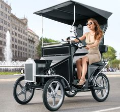 Motorized Tricycle, Tricycle Bike, 4 Wheel Bicycle, Eletric Bike, Electric Cargo Bike, Electric Car Concept, Bike Cart, Carl Benz, Beach Cars