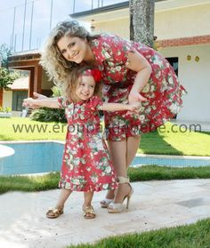vestido floral tal mãe tal filha