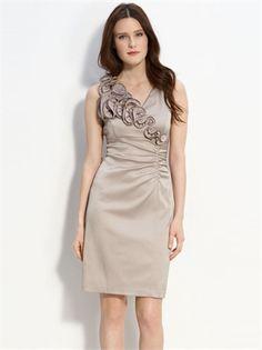 V-neck Empire stretch-charmeuse layered ruffles Dress www.simpledresses.co.uk £80.0000