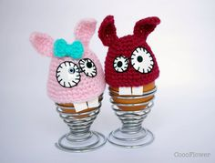 Bunny egg hat cozy crochet Kitchen decoration by cocoflower
