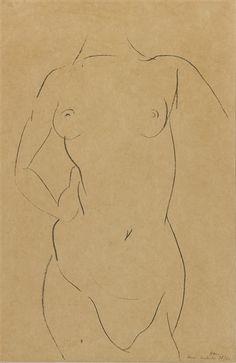 Artworks of Henri Matisse (French, 1869 - Matisse Drawing, Female Torso, Fauvism, Henri Matisse, Life Drawing, Still Life, Bodies, Artworks, Collage