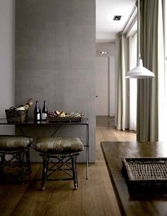 Christian Liaigre | Leather sliding door