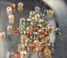 Czech Glass Beads  3mm Nugget Bead Luster