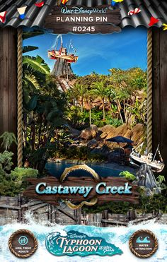 Walt Disney World Planning Pins: Castaway Creek (my absolute fave! Disney World Water Parks, Walt Disney World Vacations, Disney Trips, Disney Parks, Disney Travel, Disney Vacation Planning, Disney World Planning, Vacation Planner, Disney Dream