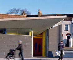 Photographer Edmund Sumner has sent us these pictures of the new facilities in Gravesend in Kent, England, by Plastik Architects.