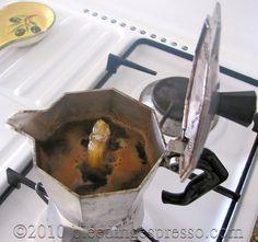 Brewing coffee in a moka pot