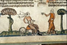 Smithfield Decretals. Royal 10 E IV f. 137v. Carding wool. France (Toulouse?). Last quarter of the 13th century or first quarter of the 14th century