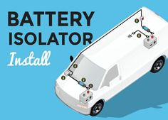 What Is A Battery Isolator? Battery isolator systems allow you to charge the secondary batteries in your van when the motor is running. There are many variation Build A Camper Van, Diy Camper, Camper Ideas, Solar Panel Calculator, 12v Led Lights, Sprinter Camper, Benz Sprinter, Trailer Build, Work Trailer