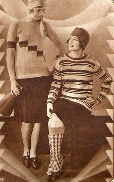 Fuente: http://vintageknit.tumblr.com/post/48467039827/maudelynn-1929-sports-knit-fashions-via