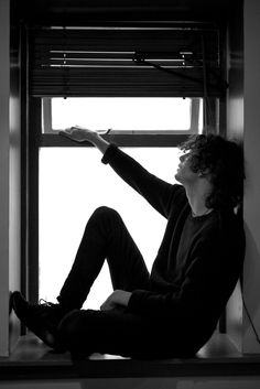 Other People: Oh, what a nice photo of this young man sitting in the window.                                                    Me: OH NO MATTY PLEASE DON'T FALL YOU BETTER NOT FALL THE WINDOW IS OPEN YOU KNOW WHAT IT'S PROBABLY BEST YOU GET DOWN.