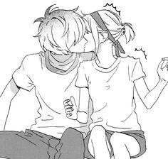 Anime Couples ★Hirunaka no Ryuusei★ Extra pages - Manga Couple, Anime Love Couple, Anime Couples Manga, Cute Anime Couples, Anime Amor, Anime Kiss, Cute Couple Drawings, Cute Drawings, Manga Romance