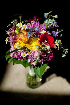 colorful wedding bouquet,