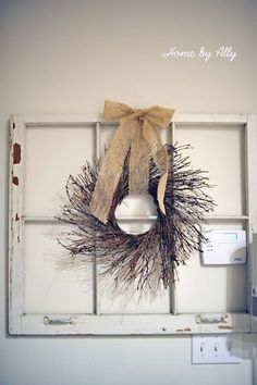 Decorating With Old Windows | Love Decorating! / Love old windows and wreaths on them. by sheila.moose