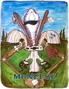 Designed with the all American sport in mind and for the McNeese baseball fan. Geaux Cowboys.  www.candicealexander.com