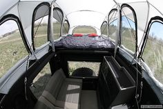 Photo gallery showcasing the interior of the JK Wrangler Rubicon Unlimited-based XV-JP expedition vehicle.