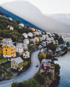 Colourful in Odda, Norway. By samalive samalive Places Around The World, The Places Youll Go, Places To See, Around The Worlds, Wonderful Places, Beautiful Places, Places To Travel, Travel Destinations, Norway Travel