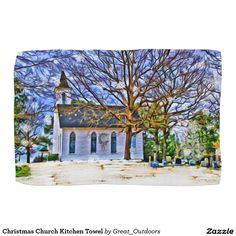 Christmas Church Kitchen Towel