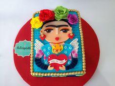 Frida Kahlo Cake - Torta de Frida Kahlo - www.dulcepastel.com  #tortasenenvigado #tortasenmedellin #cupcakesenenvigado #cupcakesenmedellin