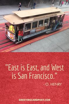 Best San Francisco Quotes and Sayings.  Notables from Mark Twain to Frank Sinatra have had some interesting insights on the City by the Bay.  These San Francisco quotations, phrases and messages are great for Instagram captions or Facebook posts. Or, they just might inspire a trip