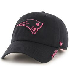 Women's New England Patriots '47 Brand Black Skyler Clean Up Adjustable Hat