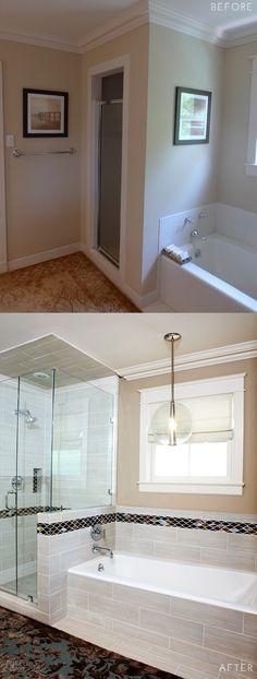 Pulp Elegant Mod Renovation Before and After Master Bathroom