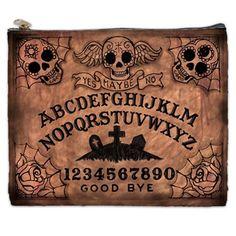 Sugar Skull Ouija Board Large Cosmetic Bag by StuffoftheDead, $25.00